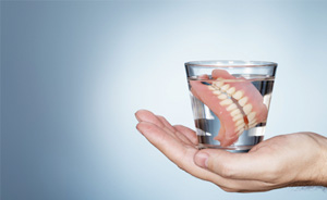 Dentures in water