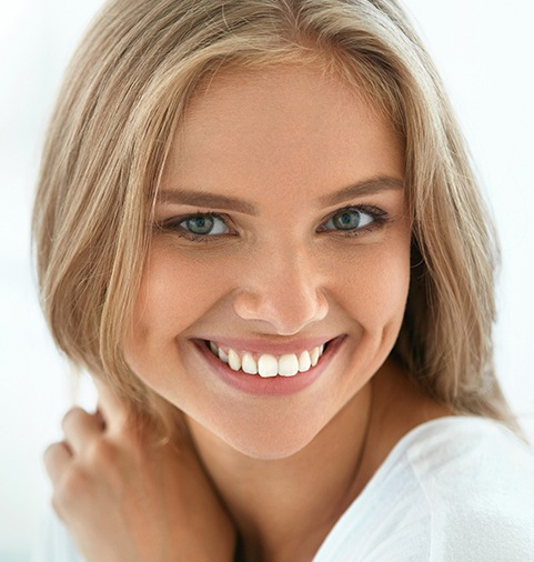 Young woman with brilliant white smile